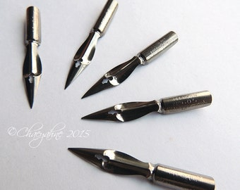 Henry's Blanzy France #5 Writing Point NIB - Dip & Feather Quill Pens