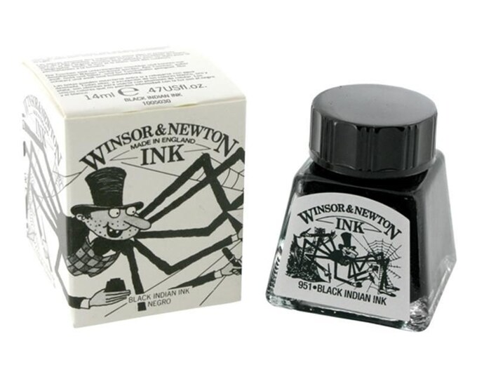 Winsor Newton BLACK Indian Drawing Calligraphy INK for Megan ONLY