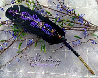 The STARLING Artisan Crafted Totem Feather Quill Pen