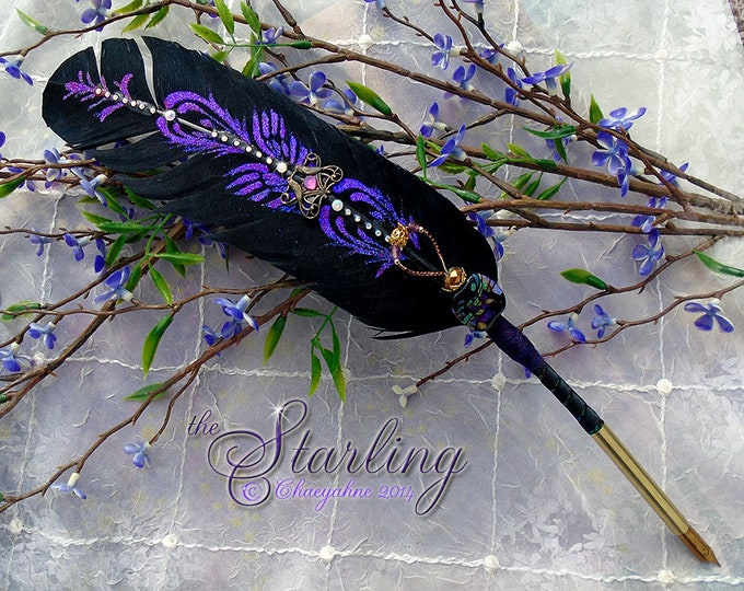 The STARLING Totem Feather Quill Pen - OOAK Made in USA