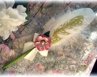 WILDFLOWER Ameruse Wedding Pen Faerie Feather Pen - ROSE
