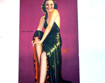 Vintage 1940s MUTOSCOPE Card - Pink of Condition - MS179 Glamour Girls Billy Devorrs