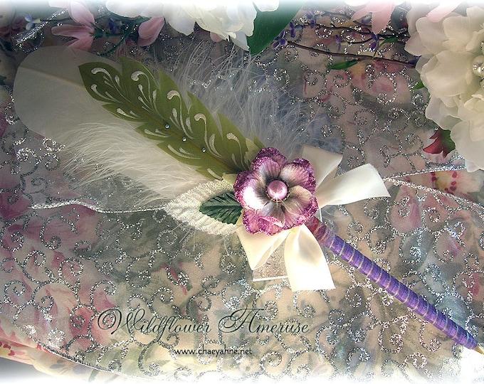 WILDFLOWER Ameruse Wedding Pen Faerie Feather Pen - VIOLET