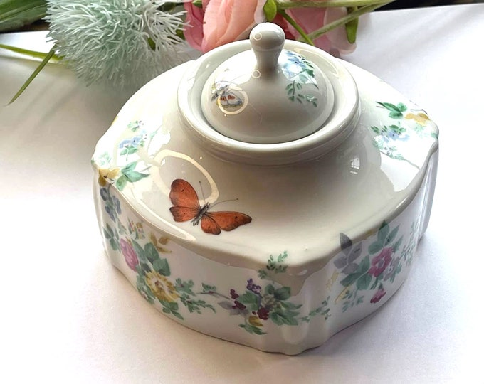 Lovely LIMOGES Bernardaud Butterfly Garden Pattern Inkwell