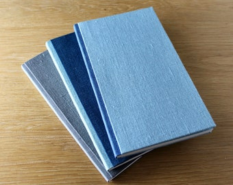 Slim Linen Notebook with Soft Covers and Color Blocking