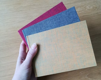 Small Hardcover Journal Notebook with Linen Covers