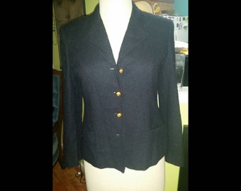 a0f4f75ecf7e Classic and Chic Vintage Lord & Taylor Boucle Blazer Jacket