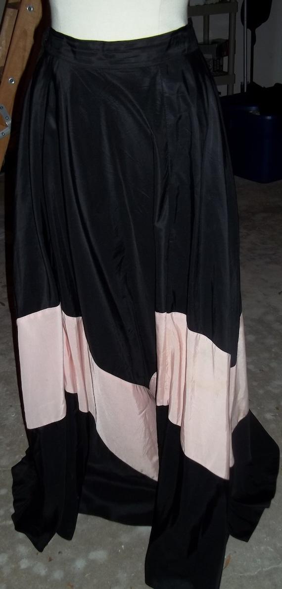 AMAZING 1930's Two-Toned Panel Maxi Skirt - image 4