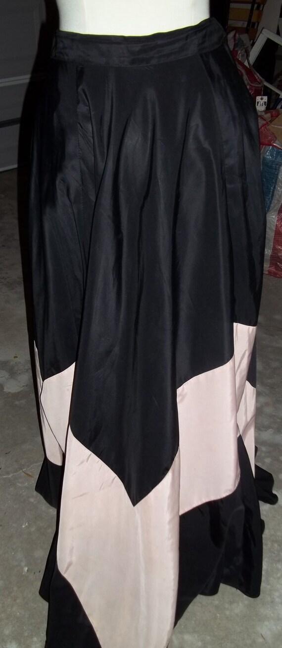 AMAZING 1930's Two-Toned Panel Maxi Skirt - image 3