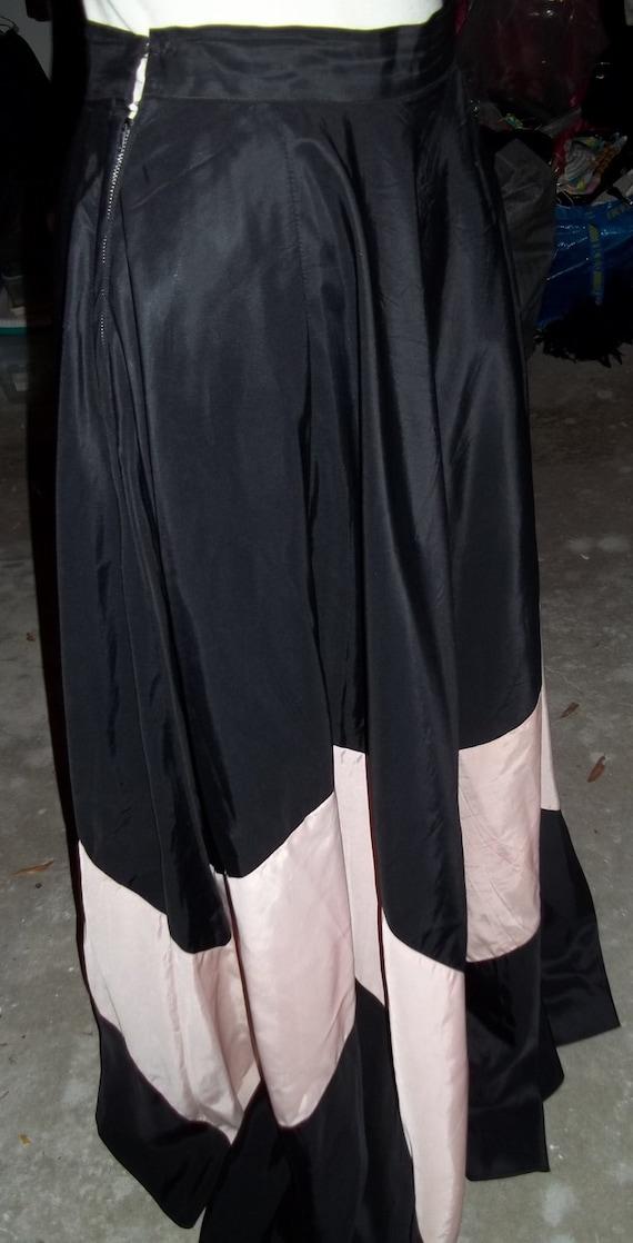 AMAZING 1930's Two-Toned Panel Maxi Skirt - image 2