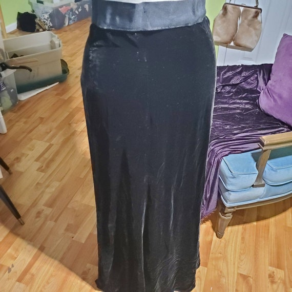 1930s to 1940's Silk Velvet Maxi Skirt
