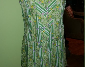 Absolutely Fun and Flirty Marigold 1960's Colorful Cullotte Dress