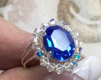 Crystal Halo Ring Tutorial, Beginner Wire Wrapping, Ring pattern, How to Make a Crystal Halo Ring, Step by Step Instructions