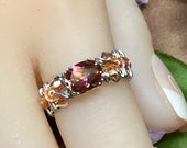 Anastasia Mystic Topaz, Handmade Ring, Mystic Topaz Ring, in 14K Gold or Sterling Silver