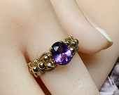 Alexandrite Color Change, Handmade Ring, Lab Alexandrite Ring, June Birthstone Ring