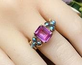 Pink Sapphire & Blue Pear...