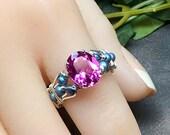 Hot Pink Sapphire & Blue ...