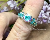 Round Opalescent Topaz, Mercury Mystic Topaz, Handmade Ring, NEW Variations Available, April Birthstone, Unique Engagement