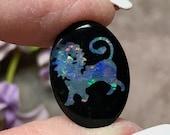 Lion Carved Opal Triplet ...