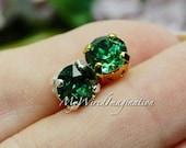 Erinite Green, Swarovski Crystal 39ss 8mm, , Crystal Sew On, Rhinestone Sew On, Swarovski Pale Green Erinite, Bead Embroidery Component