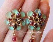 DIY Flower Earrings Tutor...