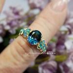 Peacock Blue Rainbow, Mystic Topaz Handmade Ring, Rainbow Blue Mystic Topaz Ring, Unique Gift for Someone Special