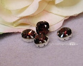 Burgundy Red Swarovski Crystal 10mm Cushion Square Cut 4470 With Prong Setting Crystal Sew On