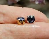 Tanzanite Purple, Vintage Swarovski Crystal, 30ss 6.25mm Crystal Sew, , Swarovski Sew On, December Birthstone, Bead Embroidery Component
