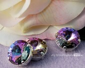12mm Swarovski Crystal, Vitrail Light Rivoli 1122, With Prong Setting, Genuine Swarovski, Jewelry Beading Crafts, Crystal , Bead Embroidery