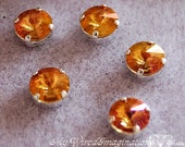 Summer Blush 1122 Swarovski Crystal, 39ss 8mm With Prong Setting, Crystal Sew On, Summer Orange , , Bead Embroidery