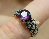 Alexandrite, Solid Sterling Silver, Handmade Ring, June Birthstone, Lab Alexandrite