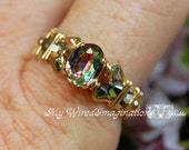 Petite Vintage Swarovski Vitrail Medium Crystal, Handmade Ring, Limited Edition Vitrail Medium Crystal