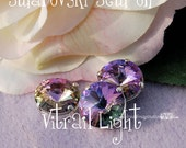 Vitrail Light Rivoli Swarovski Crystal, 14mm 1122 With Prong Setting, Crystal Sew On, Crystal , Jewelry Beading Crafts, Bead Embroidery
