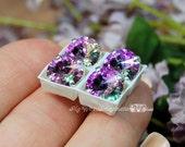 10mm Vitrail Light Rivoli Swarovski Crystal 1122 With Prong Setting Crystal Sew On  Genuine Swarovski in Sew on Setting, Bead Embroidery