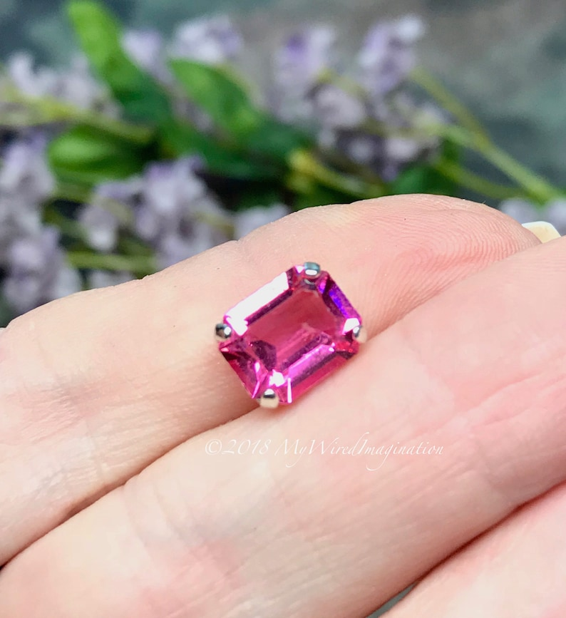 Rose Pink Transparent Octagon 2 pcs Swarovski Crystal 10x8mm image 0