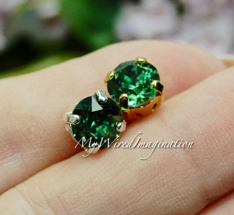 Erinite Green Swarovski Crystal 39ss 8mm  Crystal Sew On image 0