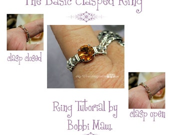 Wire Wrap a Ring With a Clasp, Learn How to Wire Wrap, Basic Clasp Ring Pattern, Wire Wrap Instructions, DIY Clasp Ring, Wire Wrap