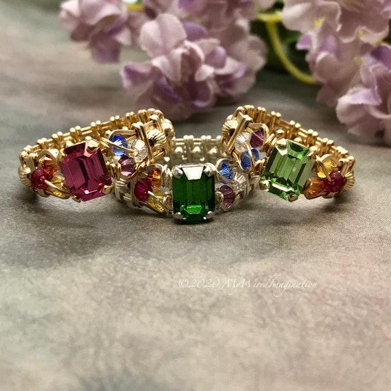 CrystalChakra rings size 8