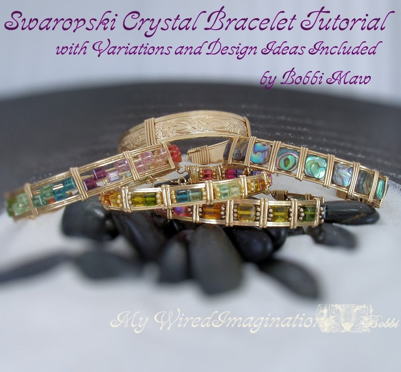 Crystal Bracelet Tutorial Wire Wrap Jewelry Tutorial image 0