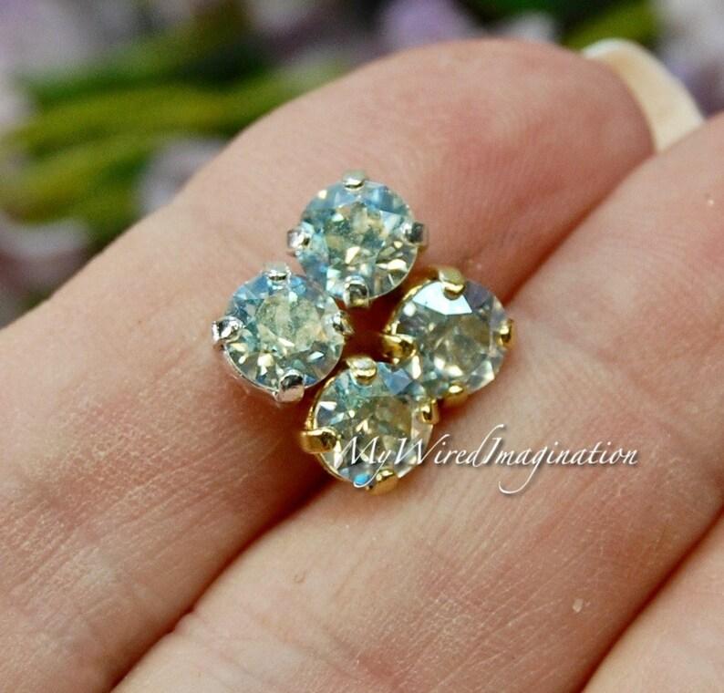 Crystal Moonlight Swarovski Crystal 29ss 6mm Crystal Chaton image 0