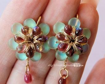 Flower Earring Tutorial, Wire Wrap Jewelry, Earring Instructions, Fanciful Flowers Earrings, How to Make Earrings