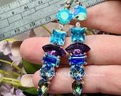 Vintage Crystal Earrings,...