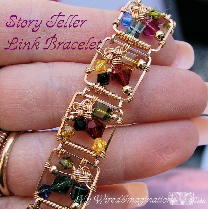 How to Make a Link Bracelet Story Teller Wire Wrap Bracelet image 0