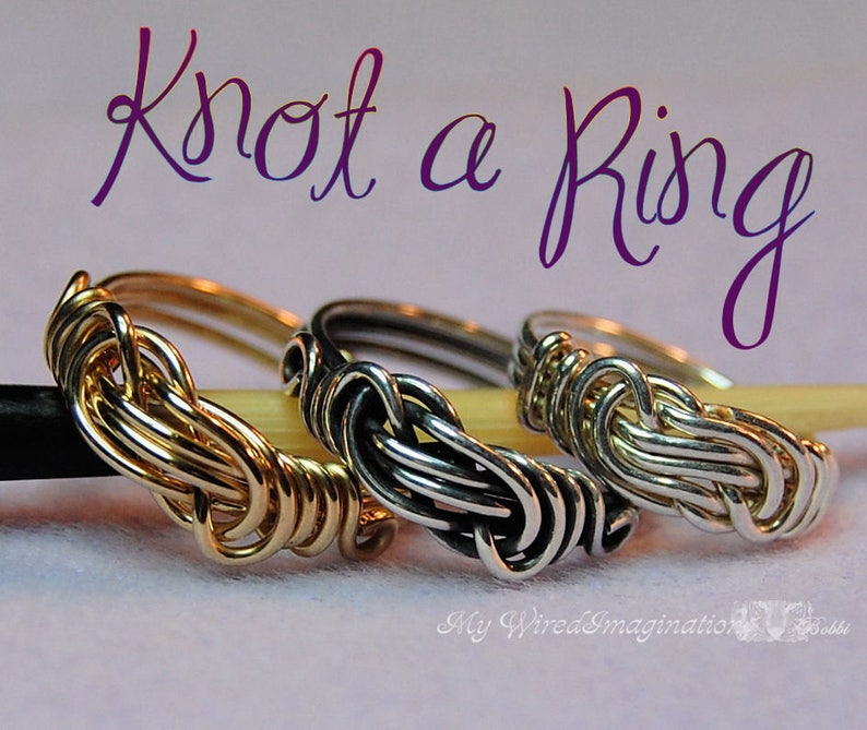 Tutorial To Wire Wrap a Knot Ring All Wire Ring Ladies or image 0
