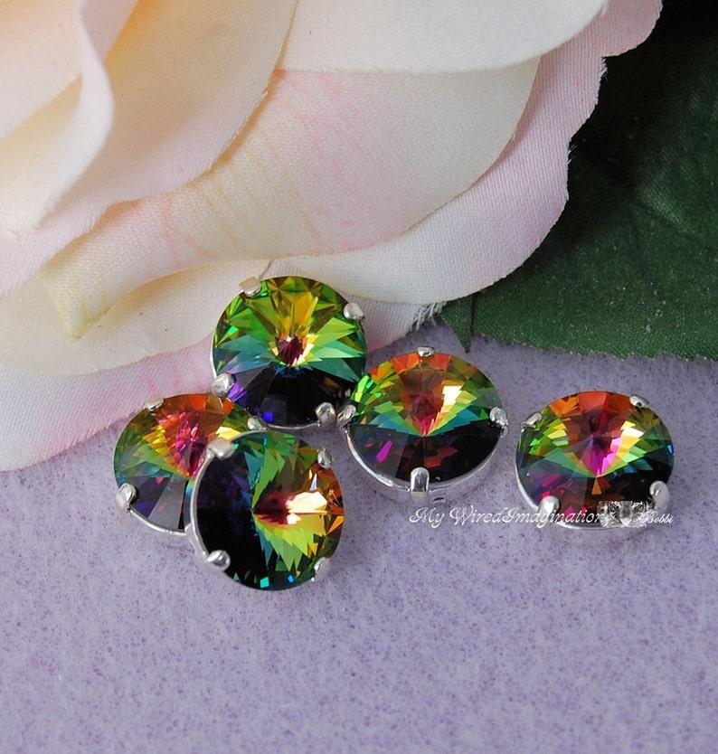 Vitrail Medium Rivoli Genuine Swarovski Crystal 14mm 1122 With image 0