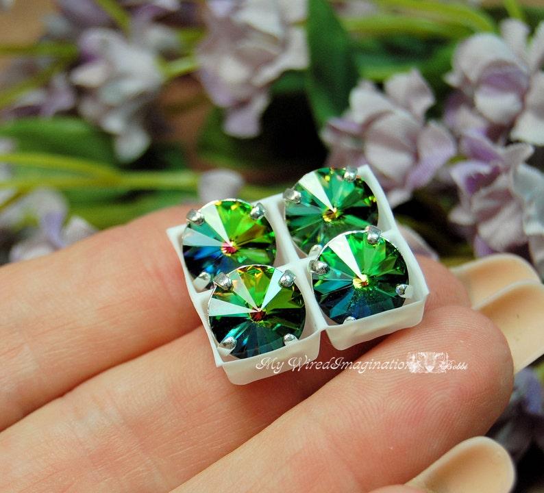 10mm Vitrail Medium Rivoli Sew On Swarovski Crystal 1122 With image 0