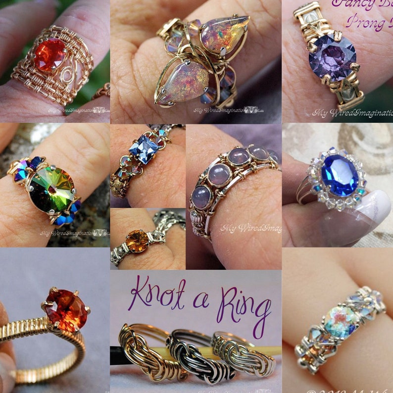 Ring Lovers 10 Wire Ring Jewelry Patterns Special Save 45.00 image 0