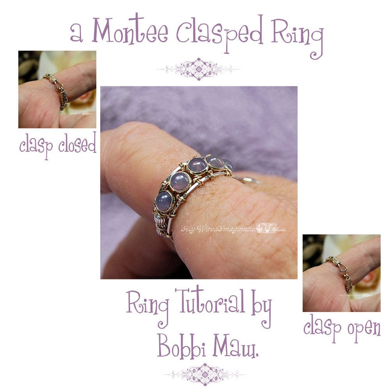 Montee Ring With a Clasp Pattern Wire Wrap Ring Pattern DIY image 0