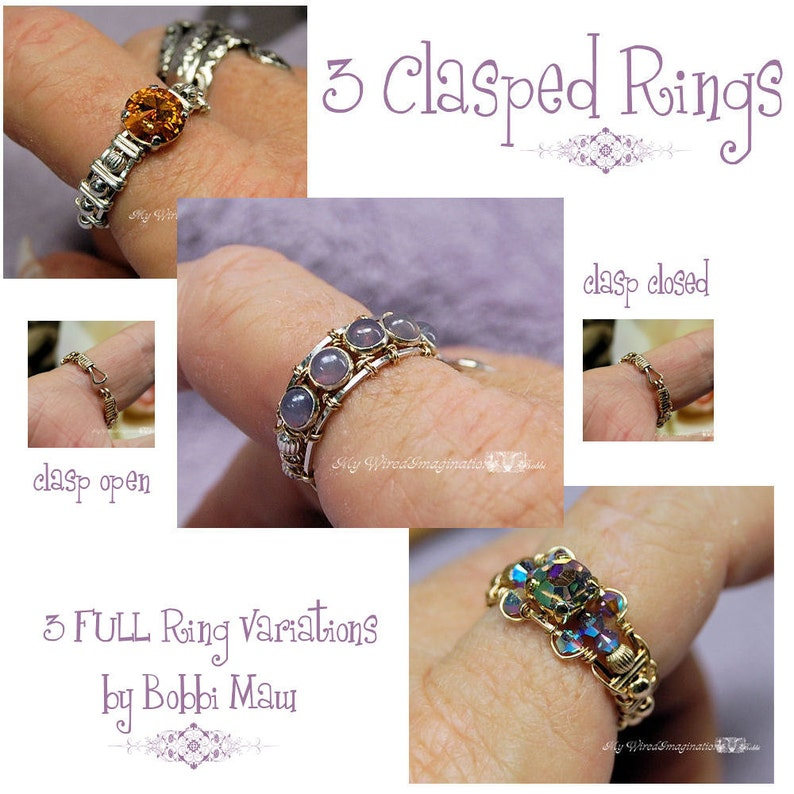 Wire Wrap Clasp Rings Tutorial 3 FULL Variations Wire image 0