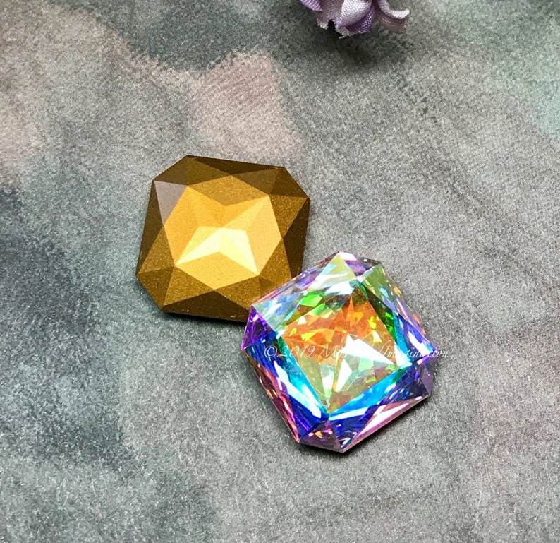 Genuine Swarovski Crystal 23mm Crystal AB Art 4675 Large image 0